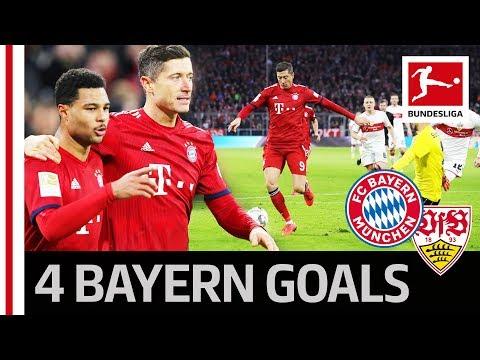 FC Bayern München vs. VfB Stuttgart I 4-1 I Thiago, Lewandowski & Co. Hungry for Goals