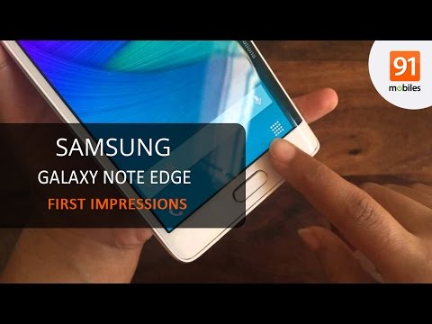 Samsung Galaxy Note Edge: First Look | Hands On | Price