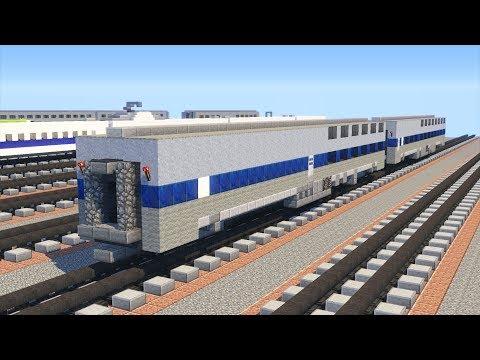 Minecraft Amtrak Viewliner Sleeper & Diner Tutorial