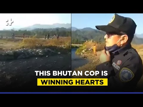 Video Of Bhutan Cop Politely Requesting Indian Revellers To Vacate Border Goes Viral