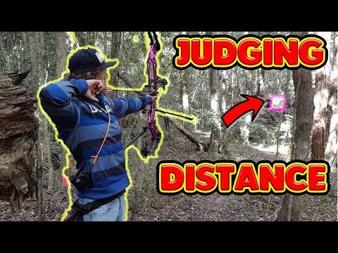 judging distances 3d archery practice with paper targets