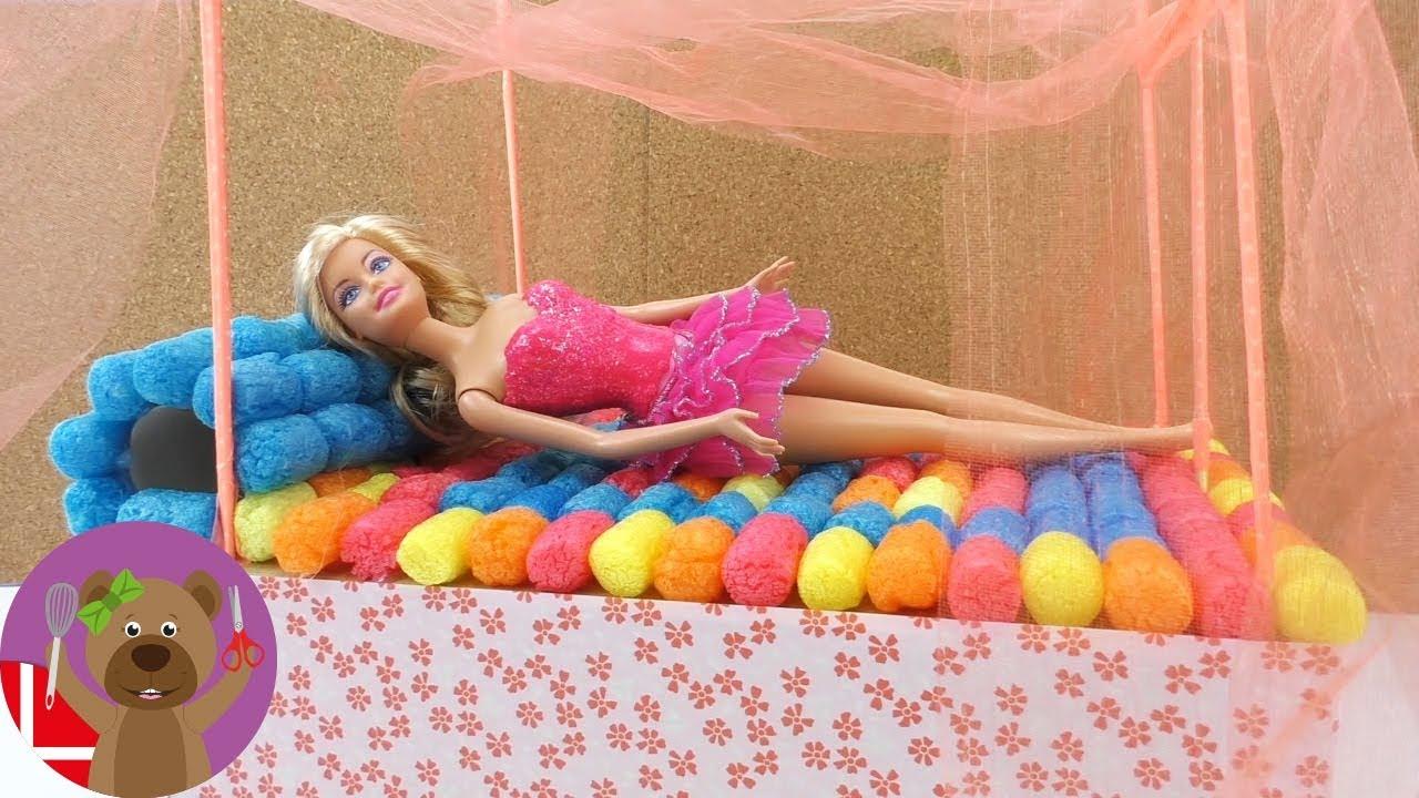 barbie seng Lav en Barbie seng   DIY Himmelseng lav selv dukkehus møbler   YouTube barbie seng
