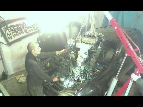 Замена двигателя на Toyota Caldina 1996 4WD 3S-FE ST195