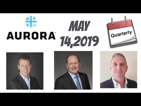 Aurora cannabis Q3 earning official date is may 14,2019