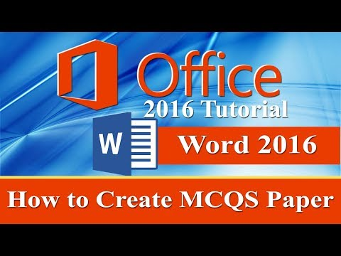 How to Create multiple choice question paper in ms word 2016