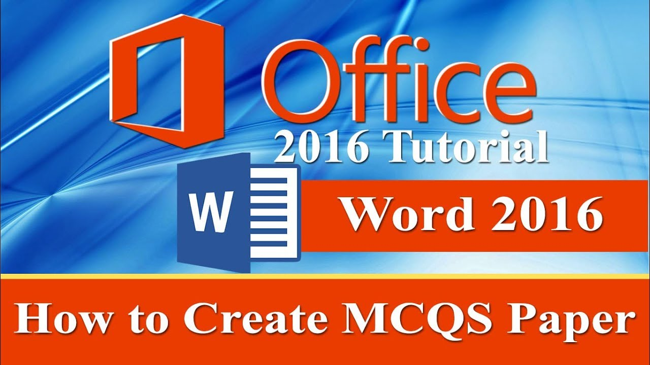 multiple choice test maker microsoft word