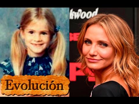 Como Cameron Diaz ha cambiado  - Evolución de 1 a 44 años.