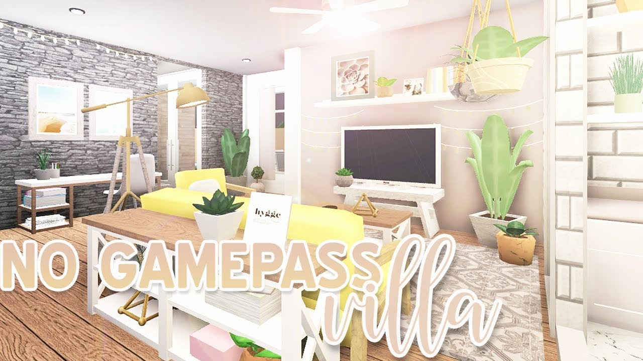 Roblox Bloxburg No Gamepass Villa 68k Youtube
