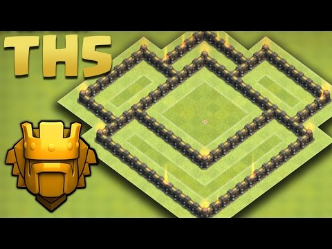 Clash of Clans - Town Hall 5 (TH5) Trophy Pushing Base Jun 2016