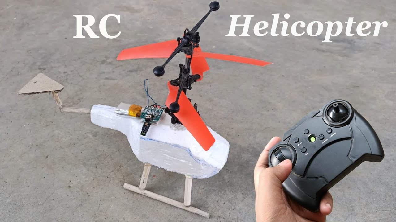 How To Make Foam  RC Helicopter