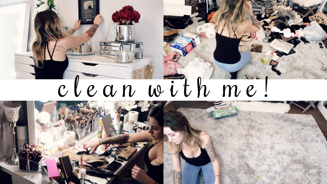 clean my beauty room with me! ♡ Jazzi Filipek Vlogs