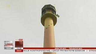 Z wysokiej wieży wypatrują pożarów w lesie (Raport z Polski TVP Info, 10.06.2013)