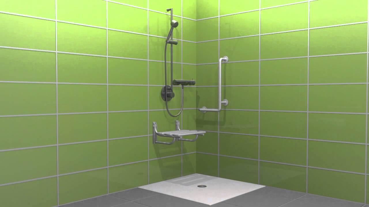 Strefa Prysznica łazienki Dla Osób Niepełnosprawnych
