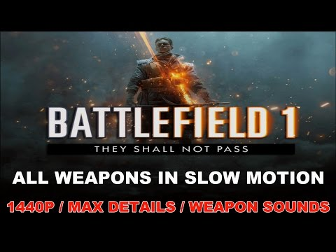 Battlefield 1 They Shall Not Pass - All Weapons In Slow Motion + Sounds [1440P MAX DETAILS 60 FPS]  