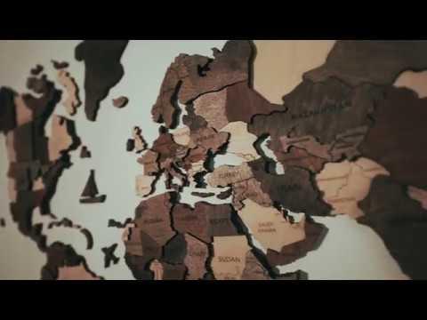 Nyc Subway Map Wood 3d.World S First 3d Wooden World Travel Map Kickstarter Official Video