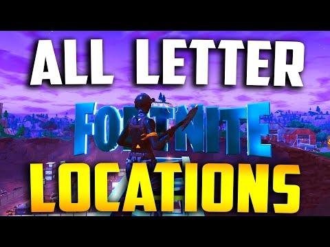 "ALL LOCATIONS ""Search FORTNITE Letters"" (Season 4 Week 1 Challenge) All Fortnite Letter Locations"