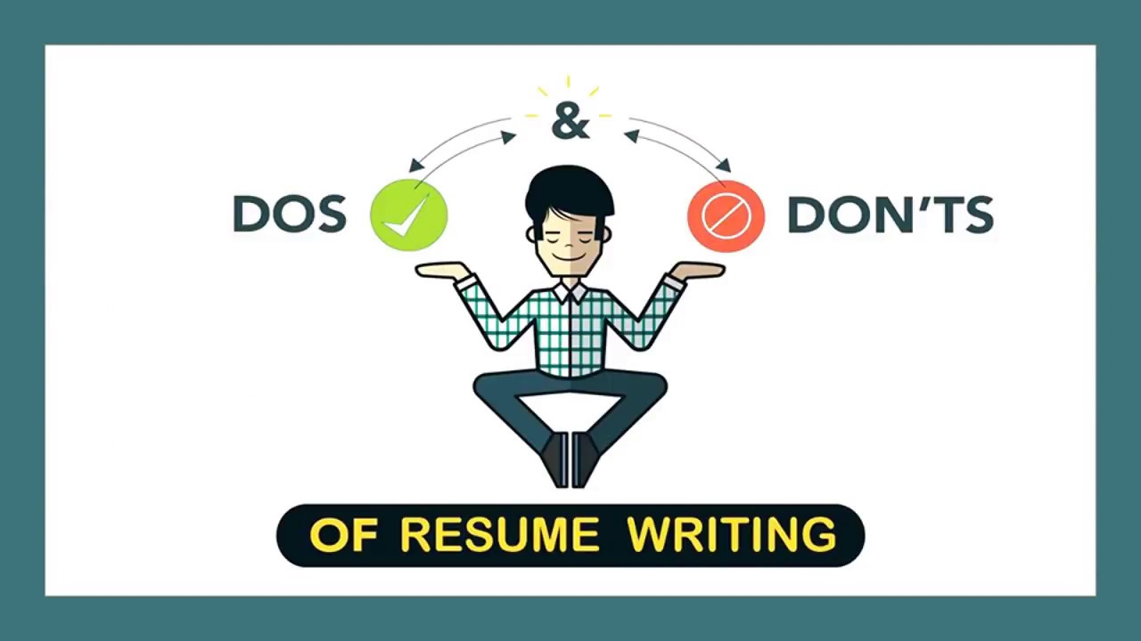 Dos And Donts Of Resume CV Writing