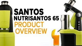 Santos N65 stainless steel commercial slow juicer overview