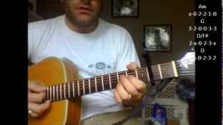 """How to play """"Ghostbusters"""" theme song on acoustic guitar"""