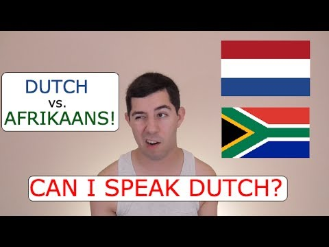 Can I Speak Dutch? (Dutch vs. Afrikaans)