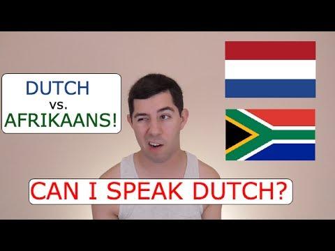 Can I Speak Dutch? (Dutch vs. Afrikaans)
