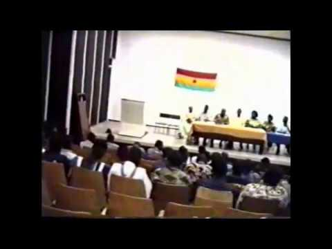 The 16th Congress of the Ghanaian Student Union in Cuba, 1996 held at la CUJAE