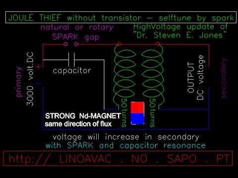 KAPANADZE recover BACKEMF (spark-gap) resonator - free energy / freie energie magnet