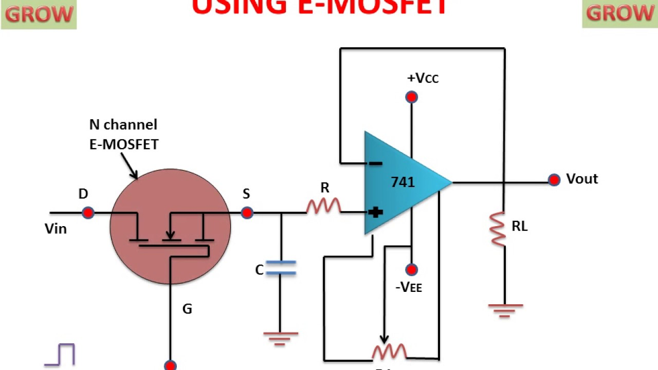 Op Amp Sample Circuit Not Lossing Wiring Diagram 741 And Hold Using E Mosfet Learn Grow Simple Designs Youtube Examples