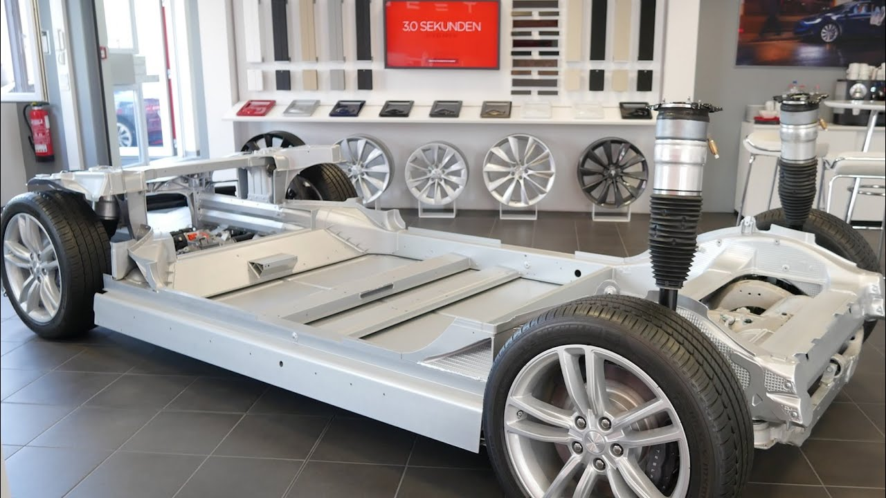 Tesla Model S + X Nackt - Fahrzeug Aufbau erklärt - YouTube