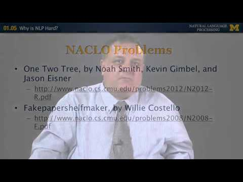 Lecture 5 — Why is NLP hard - Natural Language Processing | University of Michigan