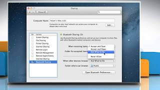 How to Share Files using Bluetooth in Mac® OS X™