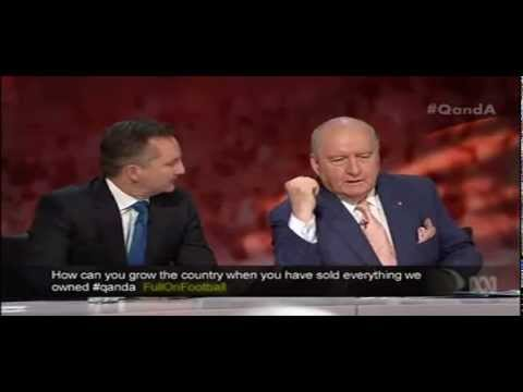 Food & Water Vs Coal & Coal Seam Gas On ABC Q&A Feat. Alan Jones, Heather Ridout