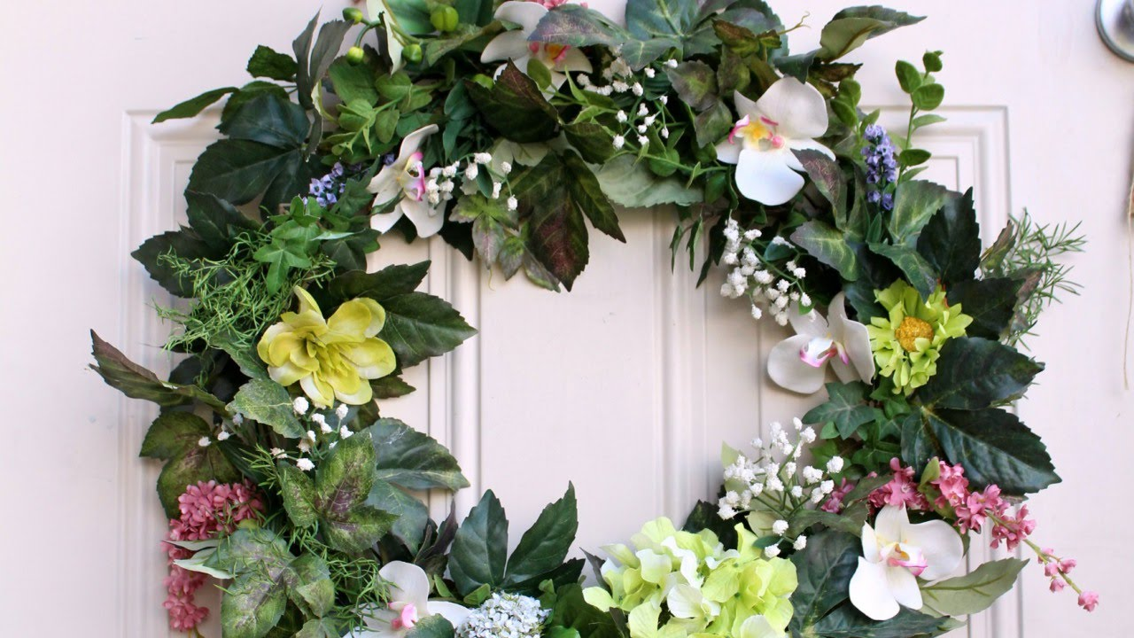 Create A Stunning Floral Wreath In 30 Minutes Diy Guidecentral