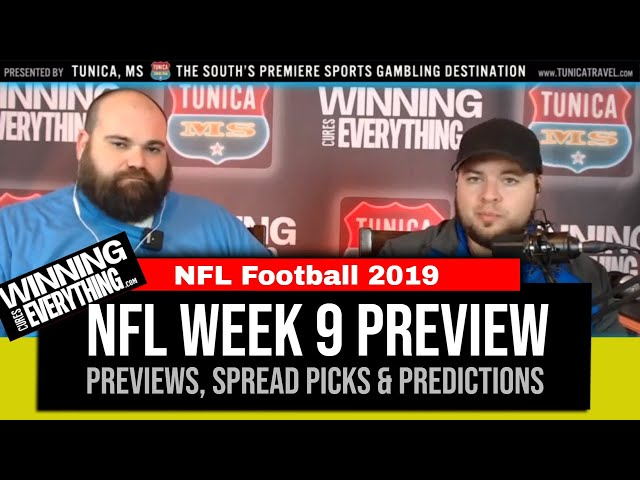 WCE: NFL Week 9 Preview & Big Game Spread Picks