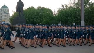 Репетиция парада в честь Дня Победы в Донецке