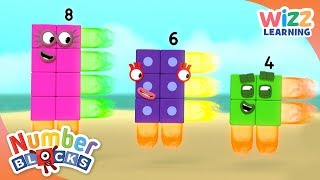Numberblocks - Rectangle Rays | Learn to Count | Wizz Learning