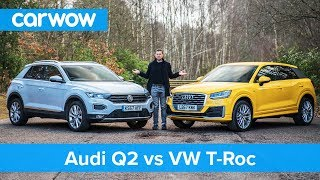 VW T-Roc vs Audi Q2 review - which is best? | carwow