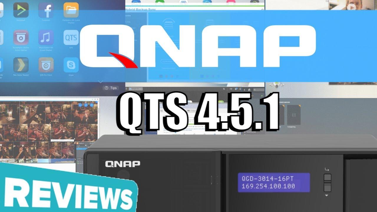 Download QNAP QTS 4.5.1 Software Review - QGD-3014-16PT NAS+Switch