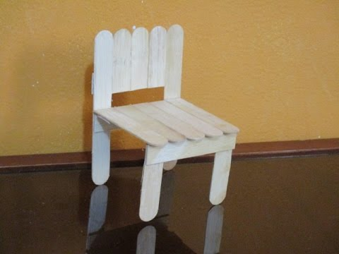C mo hacer otro modelo de silla para mu ecas con palitos - Como se elabora una silla de madera ...