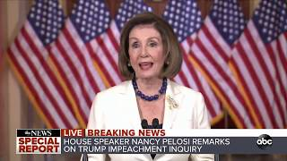 WATCH Live: House Speaker Pelosi delivers statement on status of impeachment inquiry