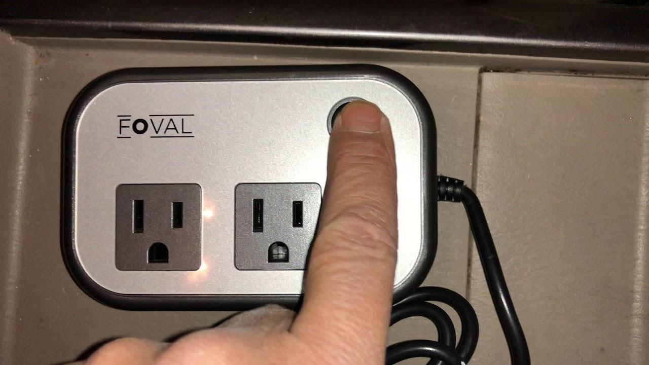 White Foval 200W Car Power Inverter DC 12V to 110V AC Converter with 4 USB Ports Charger