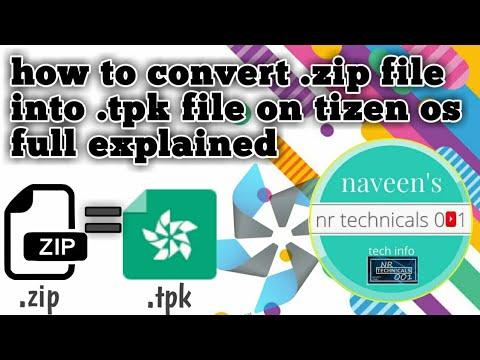 How to convert zip file into tpk on tizen z1,z2,z3,z4 download androzen pro