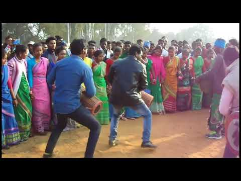 SP College Dumka Sohrai Dance 2018   |  दिसाेम सोहराय पोरोब 2018  HD