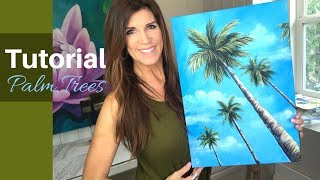 HOW TO PAINT PALM TREES in acrylics | For Beginners