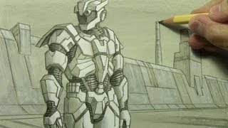 Futuristic Armor: Illustration Techniques