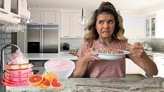 only EATING PINK foods for 24 HOURS!