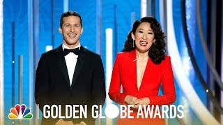 Sandra Oh and Andy Samberg Monologue - 2019 Golden Globes (Highlight)