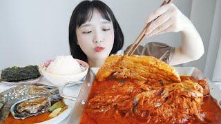 흰쌀밥에 통삼겹 김치찜 먹방 feat. 간장새우 _ 부…