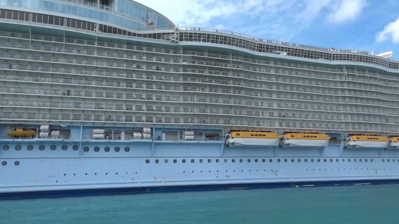 Royal Caribbean Oasis Allure of the Seas Ship Size - YouTube