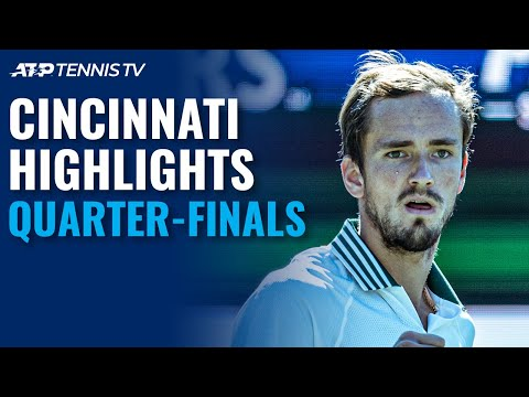 Tsitsipas vs Auger-Aliassime; Medvedev, Zverev Eye Semis | Cincinnati 2021 Quarter-Finals Highlights